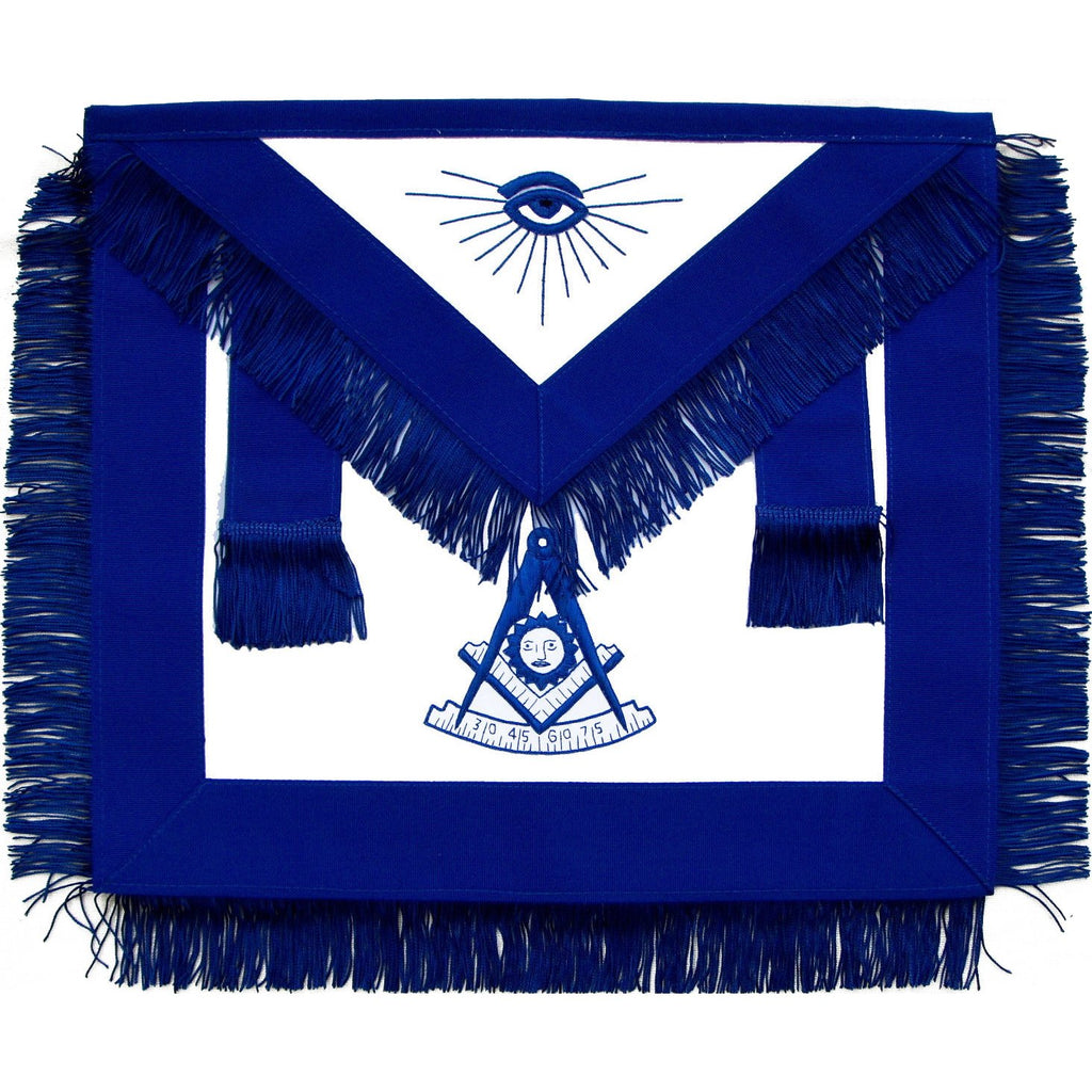 Masonic Past Master Apron Blue With Fringe - Bricks Masons