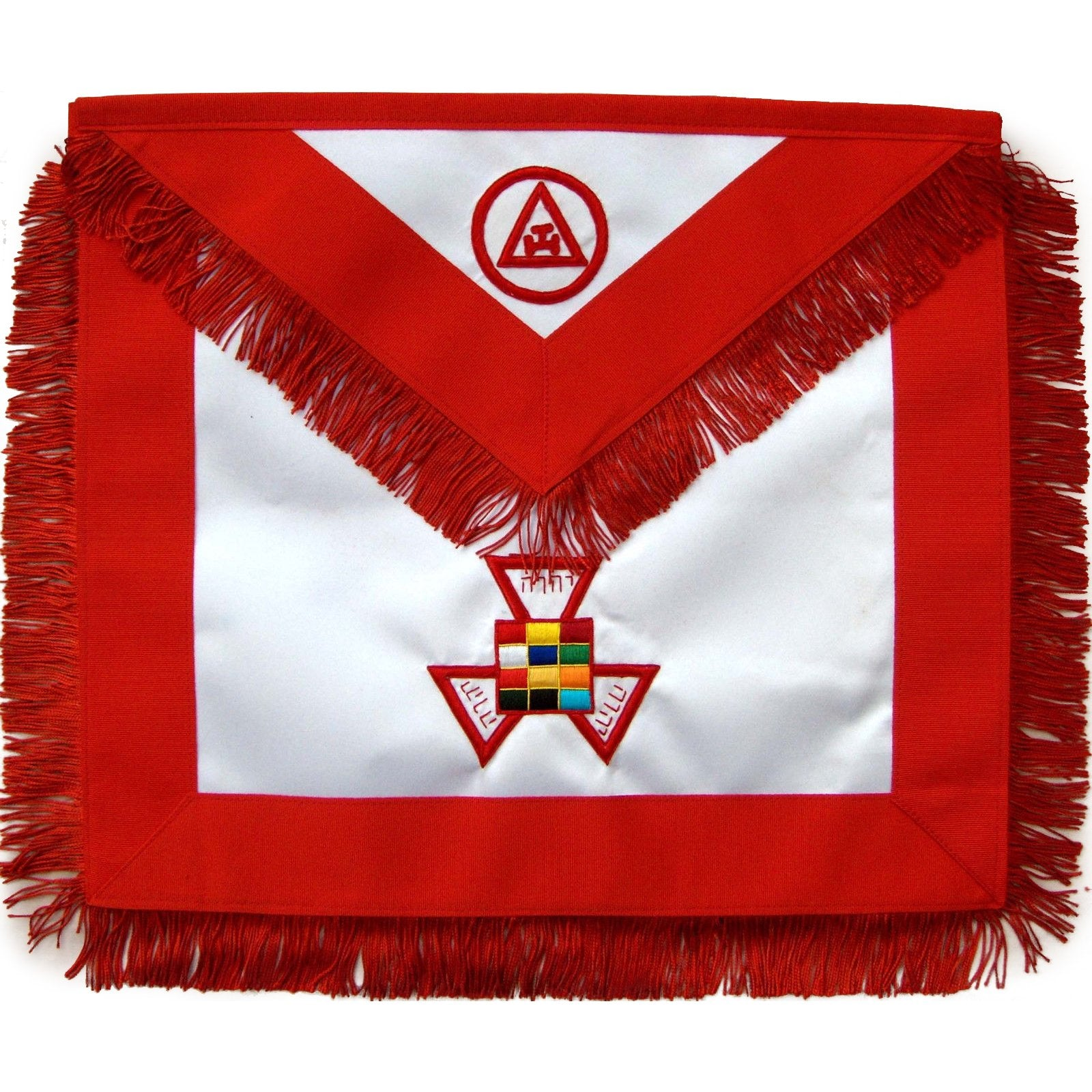 Masonic Royal Arch Past High Priest PHP Apron Hand Embroidered - Bricks Masons