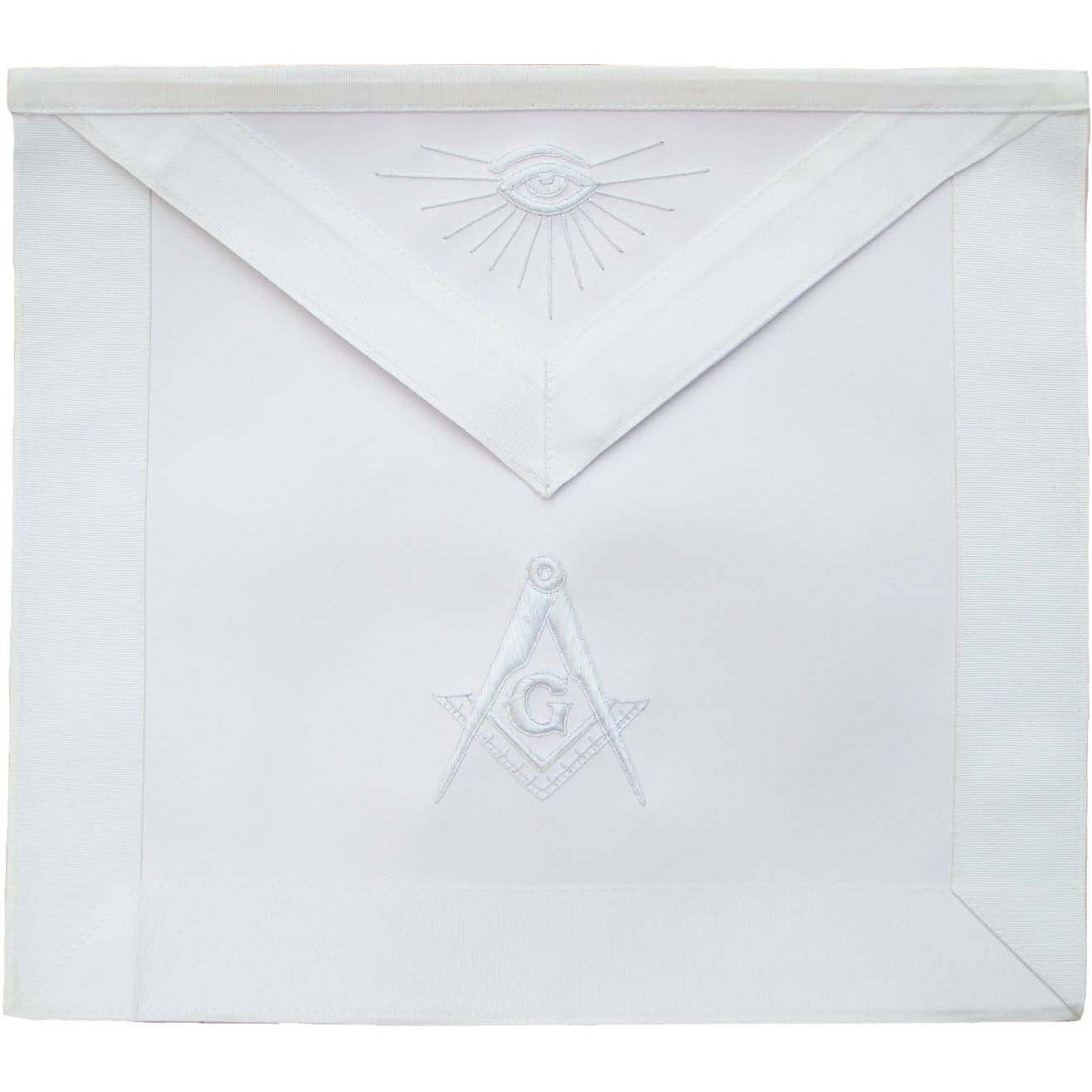 Masonic Master Mason Apron All White - Bricks Masons