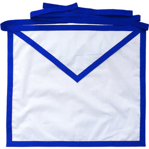 Masonic Blue Lodge Member Apron White Cotton Duck Cloth - Bricks Masons