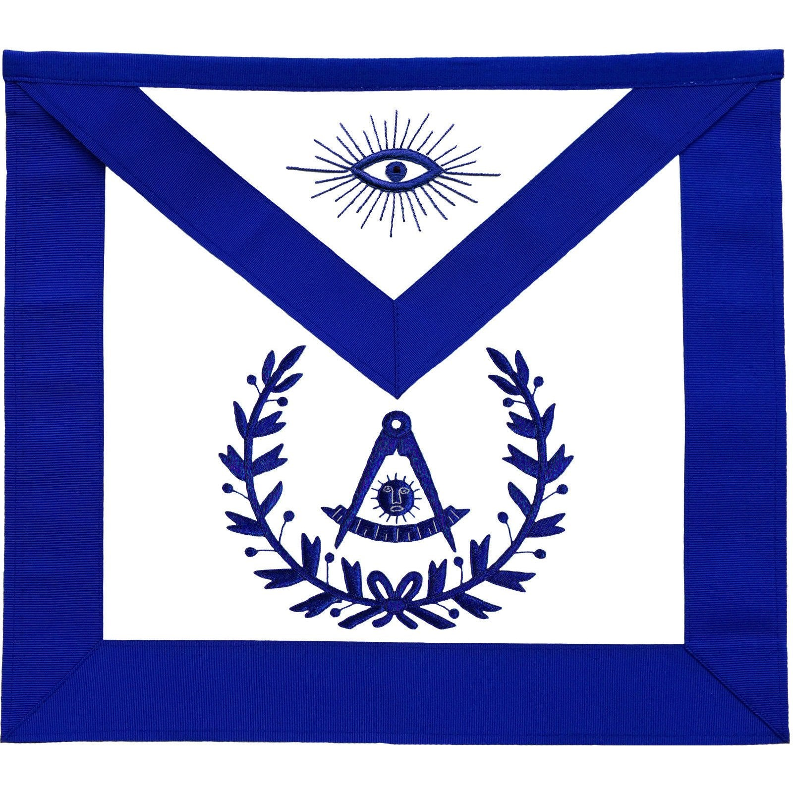 Masonic Past Master Apron With Wreath Blue - Bricks Masons