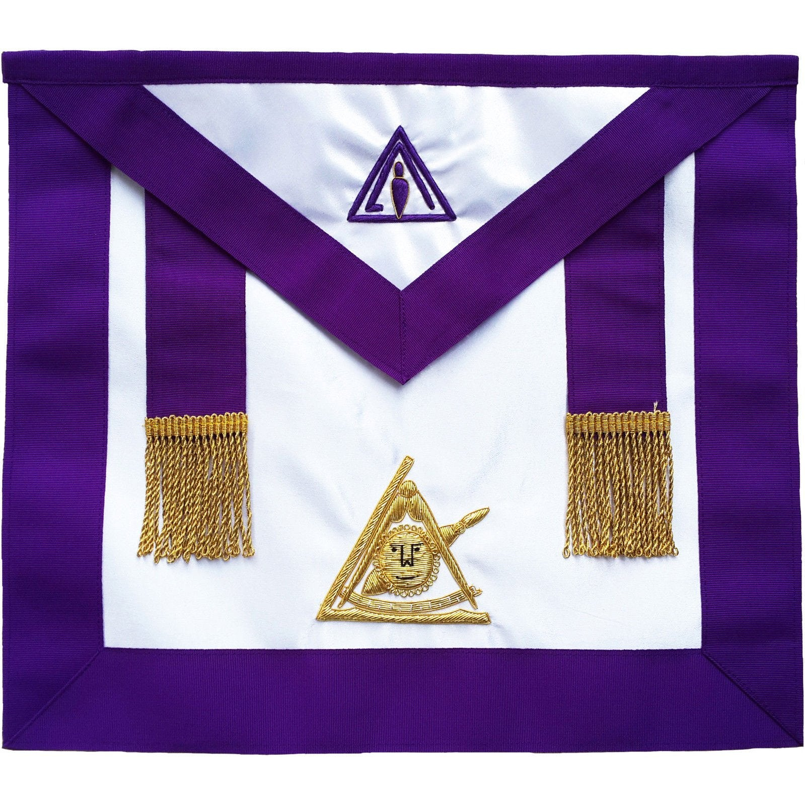 Masonic Past Thrice Illustrious Master PTIM Hand Embroidered Apron - Bricks Masons