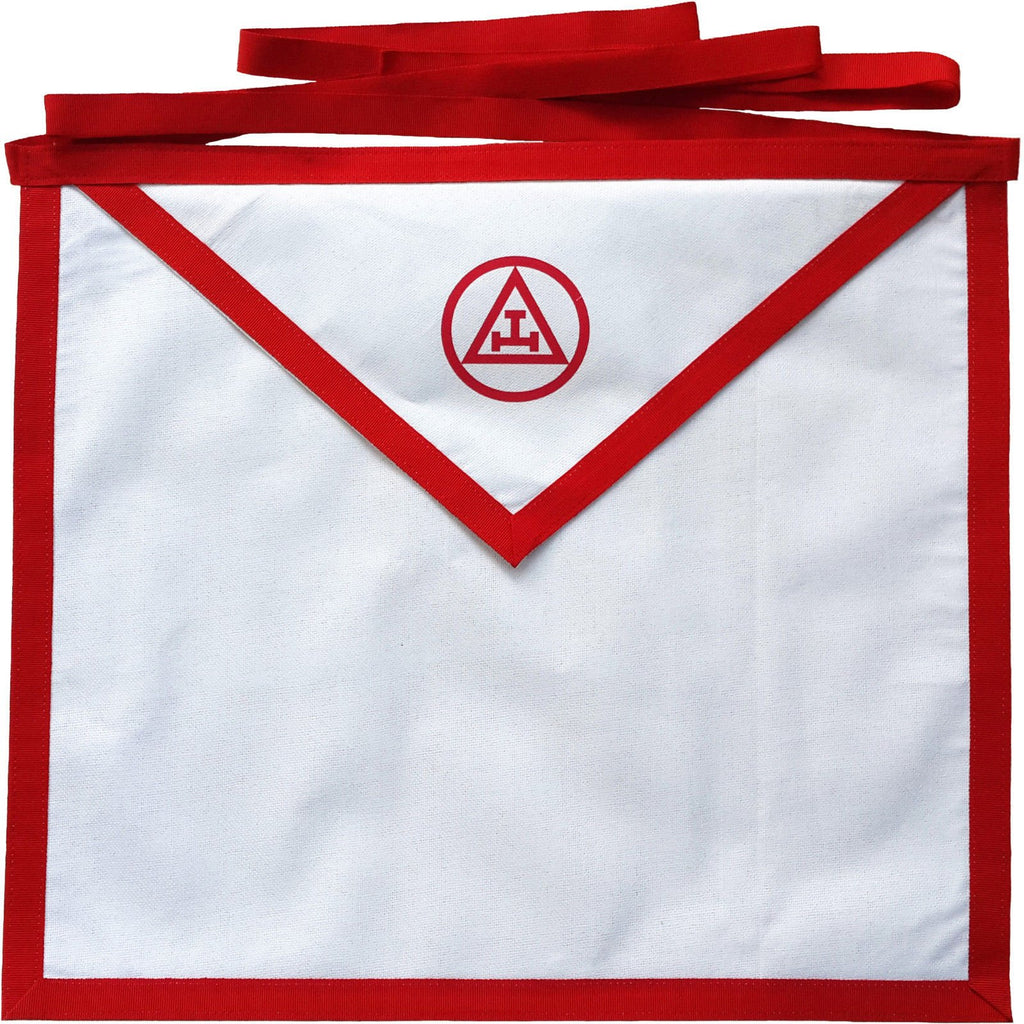 Masonic Holy Royal Arch White Cotton Duck Cloth Member Apron Printed