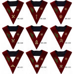 Scottish Rite 14th Degree Lodge Of Perfection Officer Collars Hand Embroidered