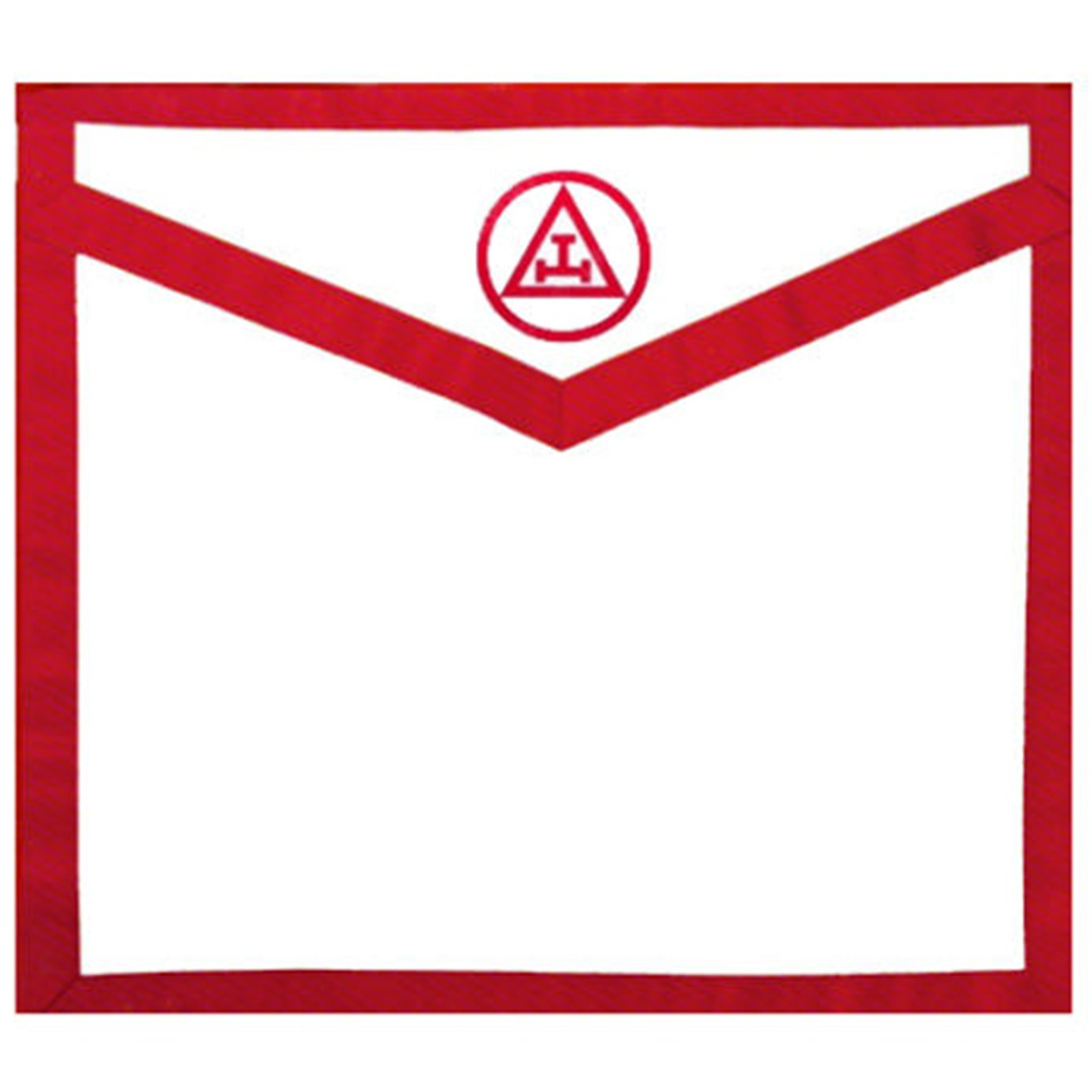 Masonic Apron Royal Arch. Red White Duck Cloth Apron - Triple Tau - Bricks Masons