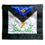 Masonic Scottish Rite Satin Masonic apron - AASR - 4th degree - Acacia - Bricks Masons
