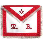 "Masonic Scottish Rite AASR Honor Apron ""M+B"" Leather Apron - Bricks Masons"