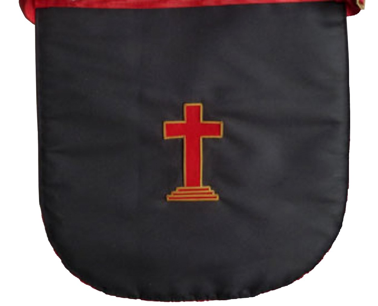 Masonic Scottish Rite Round Satin apron - AASR - 18th degree - Bricks Masons