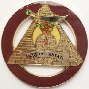 PAST POTENTATE Dark Brown Car Emblem - Bricks Masons