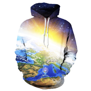 Blue Earth Ray Unisex Hoodie