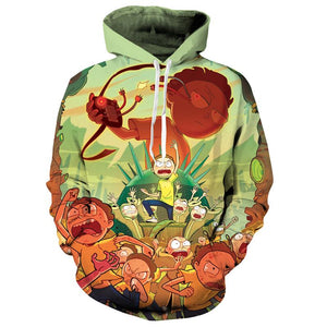 Rick & Morty Attack Unisex Hoodie