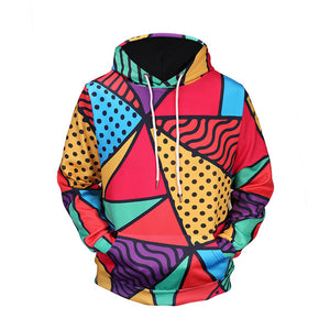 Colorful Triangle Unisex Hoodie