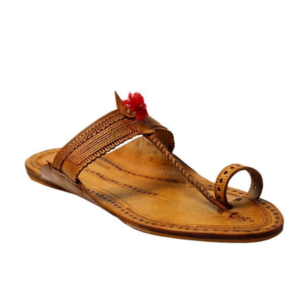 Light Yellow Typical Kolhapuri Chappal for Women Buy Online Authentic Original Traditional Best Quality from Kolhapur (Maharashtra)