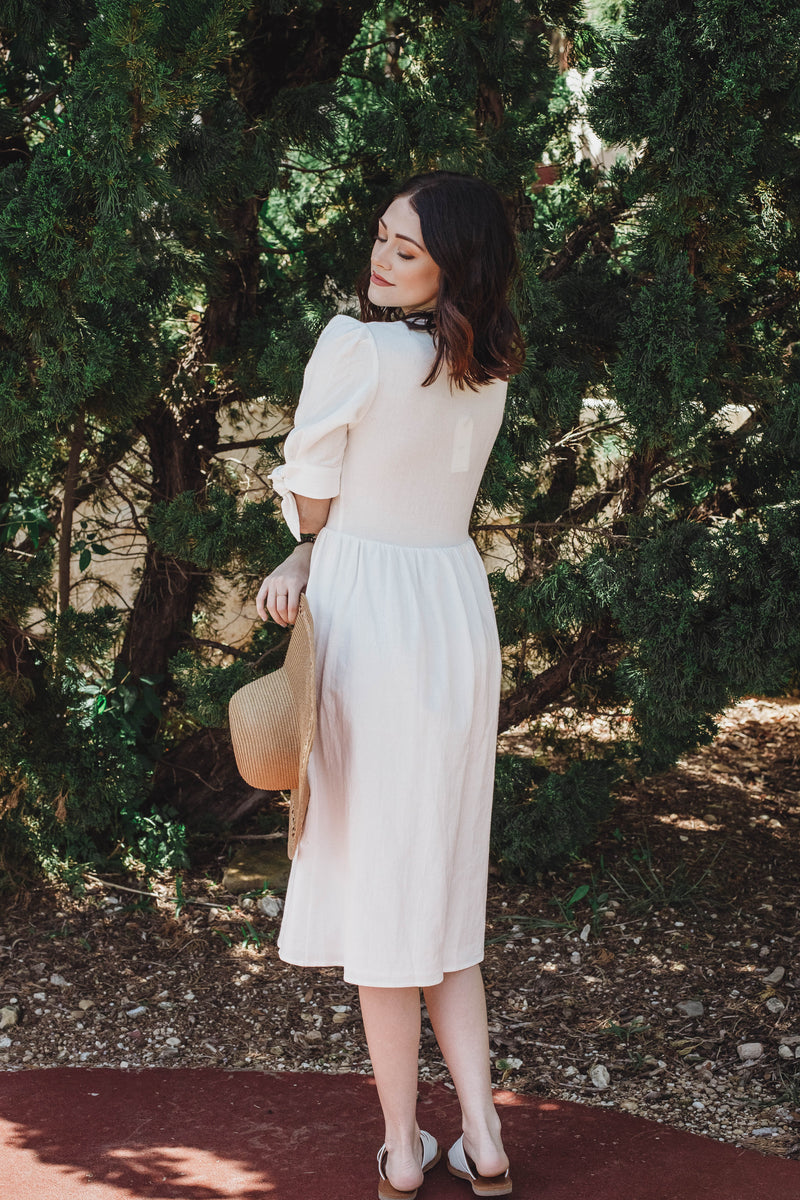 Brighter Days Pocketed Midi Dress