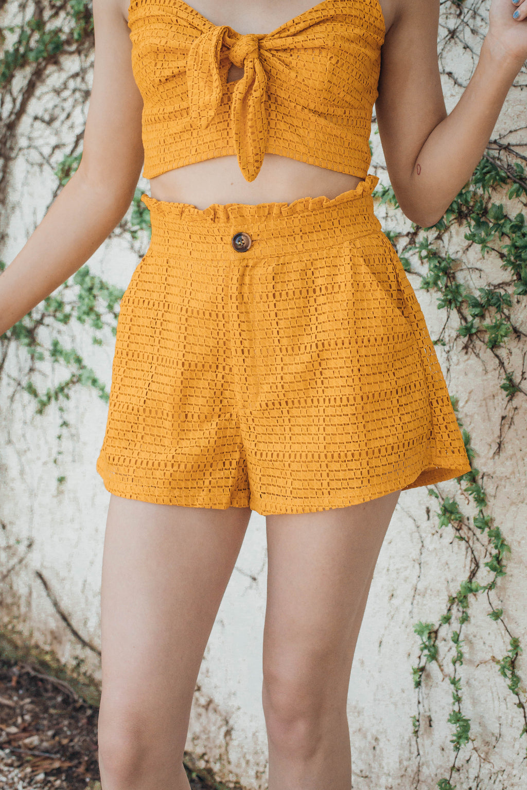 Cherry Pocketed Shorts