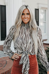 Wild Card Statement Blouse - Zebra