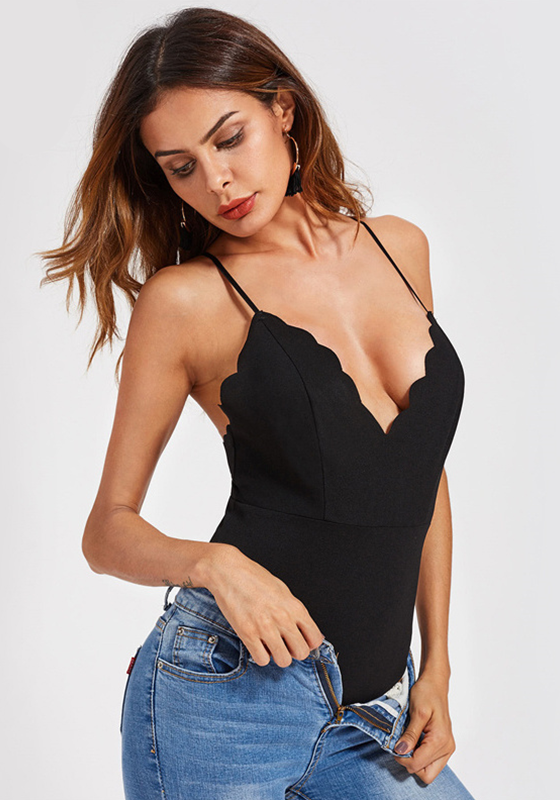 3e8609128129 Scallop Edge Cami Bodysuit – My Bodysuits