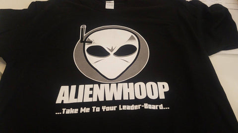 AlienWhoop Leaderboard T-Shirt (B&W)