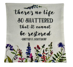 Life Restored | Pillow Cover | Inspirational | Restored | Have Courage | Encouragement Gift | Be Courageous | Home Decor | Throw Pillow