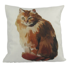Ginger Cat | Pillow Cover | Cat Lover Gifts | Throw Pillow | Home Decor | Crazy Cat Lady | Gift for Her | 18 x 18 | Cat Decor Pillow | Cat