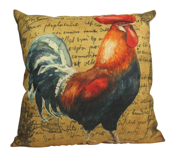 Farmhouse Style | Pillow Cover | Modern Farmhouse | Throw Pillow | Farm Decorating | 18 x 18 | Rooster | Vintage | Home Decor | Pillow
