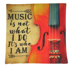 Music Lover | Music is What I Am | Pillow Cover | Home Decor | Throw Pillow | Gift for Musician | Woman Musician Gift | Musician Gift | Gift
