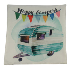 Happy Camper | Pillow Cover | 18 x 18 Pillow | Camper Decorations | Throw Pillow | Vintage Camper | Pillow | Home Decor | Wanderlust | Decor