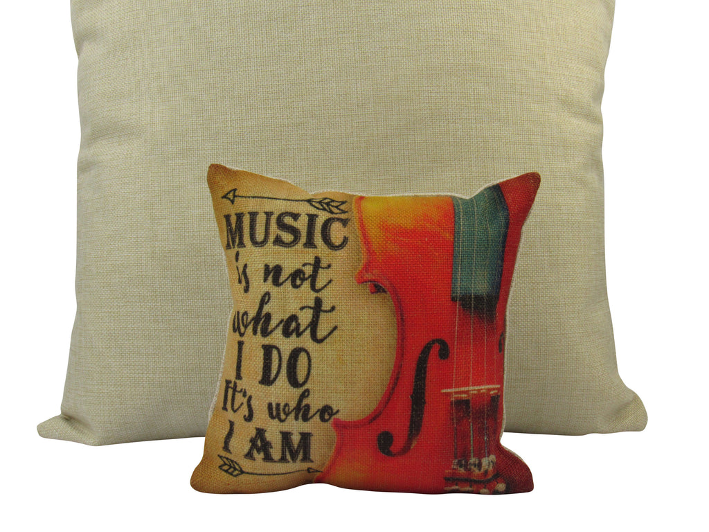 MINI Music Lover | Music is What I Am | Cover and Insert | Home Decor | Gift for Musician | Woman Musician Gift | Musician Gift