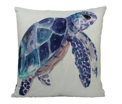 MINI Sea Turtle | Pillow Cover | 8 x 8 | Under the Sea | Throw Pillow | Home Decor | Modern Coastal Decor | Pillow | Nautical Pillow Covers
