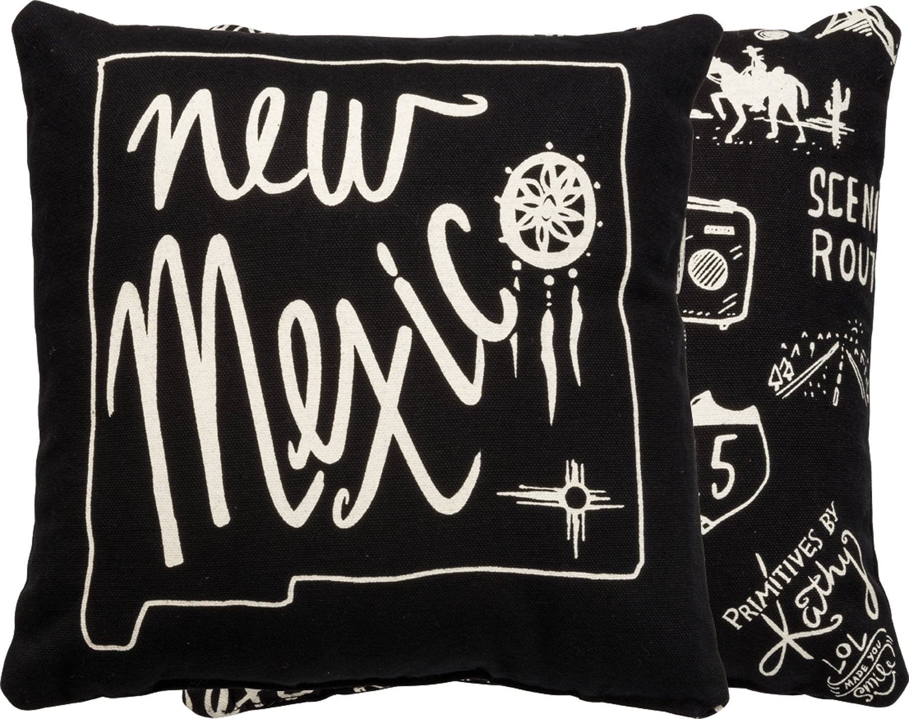 New Mexico | Throw Pillow | 10x10 | Modern Coastal Decor | Beach House Decor | Primitive Decor | Pillow | Travel | New Mexico State | NM