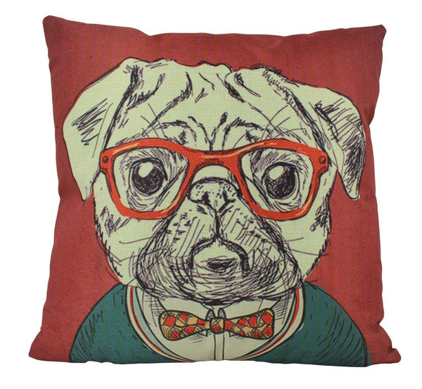 Pug | Pillow Cover | Tiger Home Decor | Throw Pillow | Home Decor | Wilderness | Rustic Home Decor | 18 x 18 | Funky | Christmas Gifts |