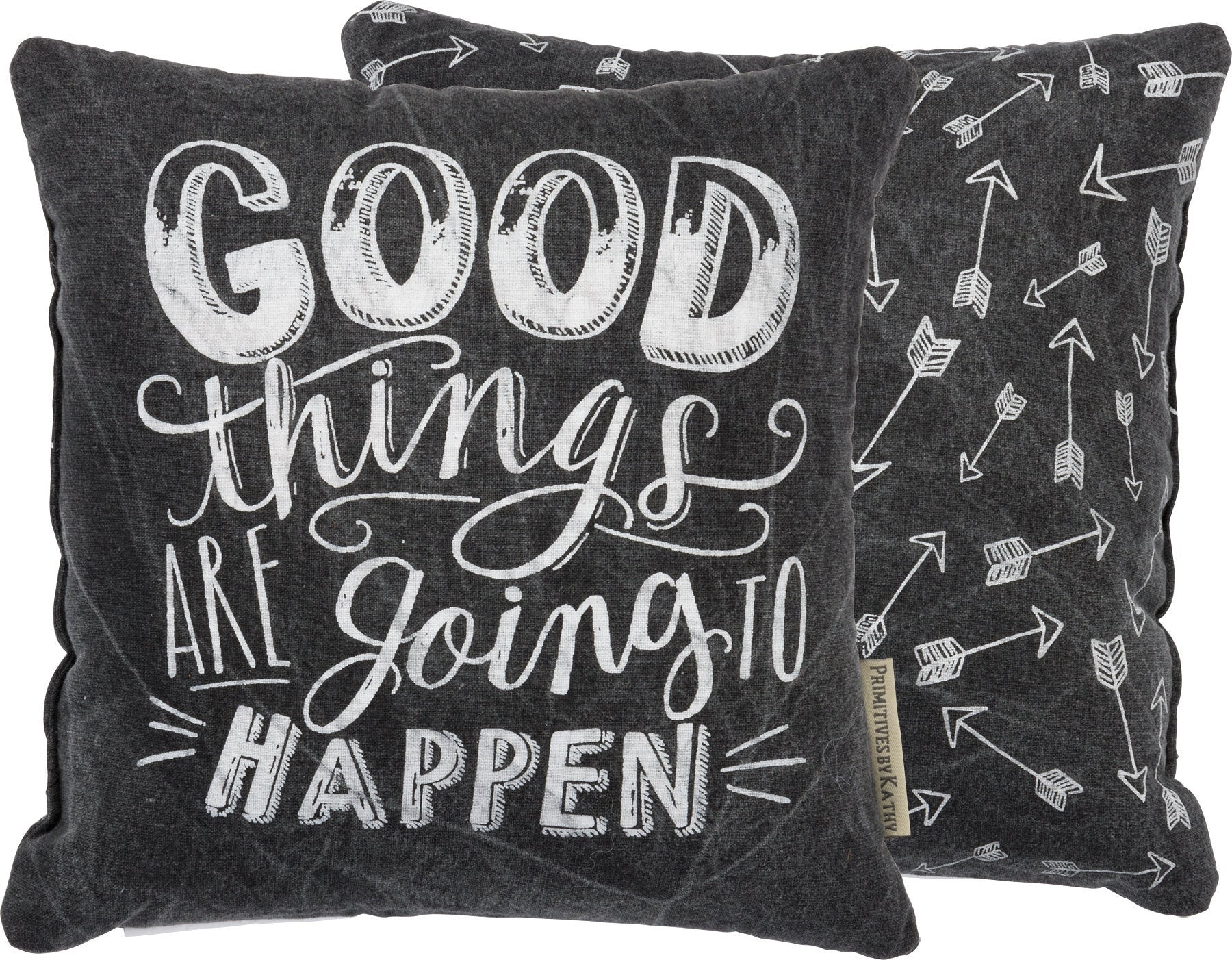 Good Things Are Going to Happen  | Throw Pillow | 10x10 | Modern Coastal Decor | Beach House Decor | Primitive Decor | Pillow | Insprational