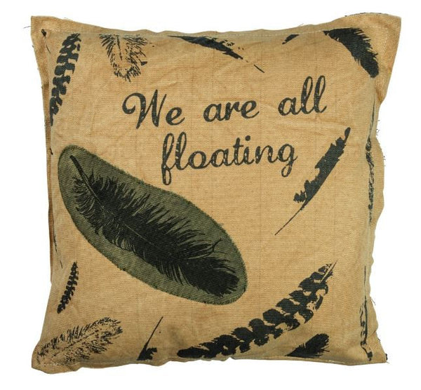 We are all floating | Throw Pillow | 15 x 15 | Home Decor | Cabin Decor Ideas | Lake House | Lake House Decor | Coastal Pillow
