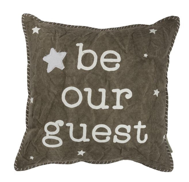 Be our Guest | 16x16 Pillow & Insert | Home Decor | Meditation | Throw Pillow | Graduation Gift | Primitive Decor | Gift for Her