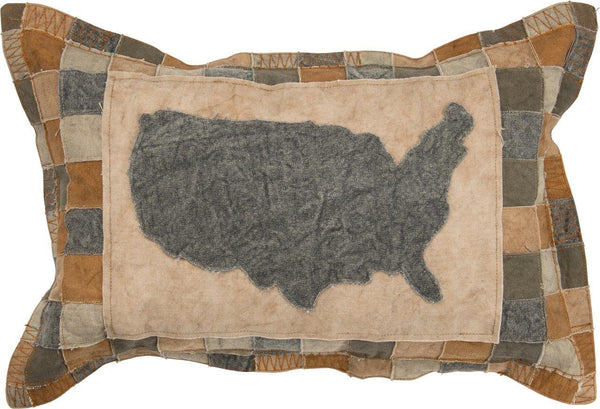 Map of the United States | Pillow | American States | 50 States | Americana Decor | States | United States | US States Decor | Home Decor