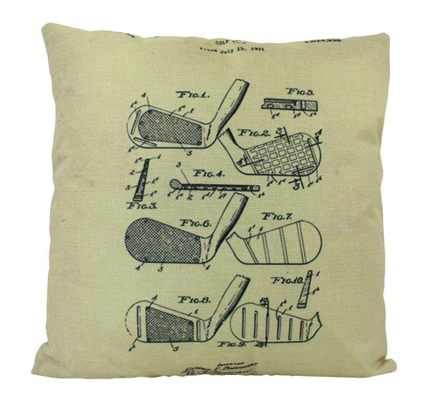 Vintage Golf Print | Pillow Cover | Gift for Him | Throw Pillow | 18 x 18 Pillow | Golf | Pillow