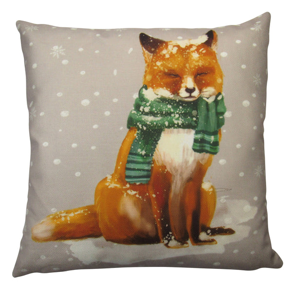 Christmas Fox | Throw Pillows | Fox Pillow Cover | Christmas Pillow | Snow Fox | Christmas Gift