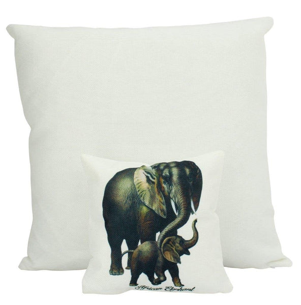 MINI: Vintage Elephants | Pillow | Vintage | Throw Pillow | Wilderness | 8 x 8 | Forest Animal