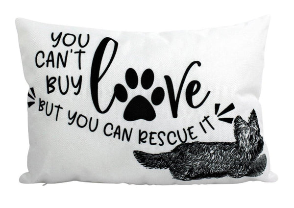 You Can't buy Love but you can rescue it | Pillow Cover | Home Decor | Rescue Dog | Dog Mom