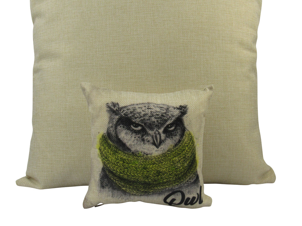 MINI: Barn Owl | Pillow Cover | Drawing of an Owl | Throw Pillow | Home Decor | Wilderness | Owl
