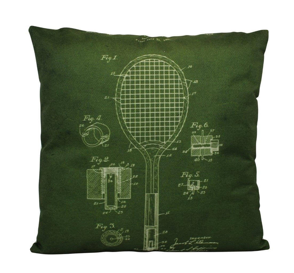 Vintage Tennis | Pillow Cover | Gift for Him | Throw Pillow | 18 x 18 Pillow | Tennis | Pillow |Home