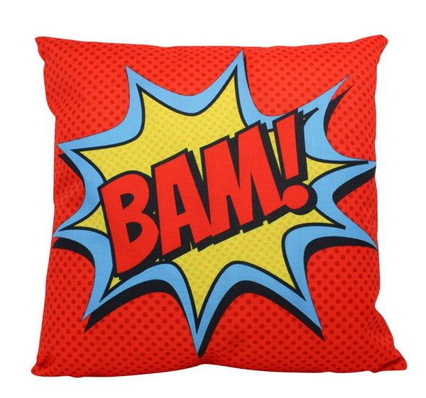 BAM | Pillow Cover | Super Hero | Anime | 18 x 18 Pillow | Throw Pillow Cover | Home Decor | Boys