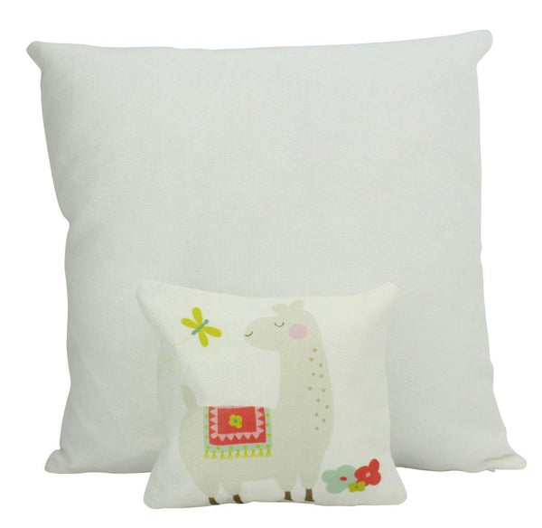 MINI Llama with Flowers | Pillow | Good Vibes Only | Cactus Pillow | Positive Vibes | South Western