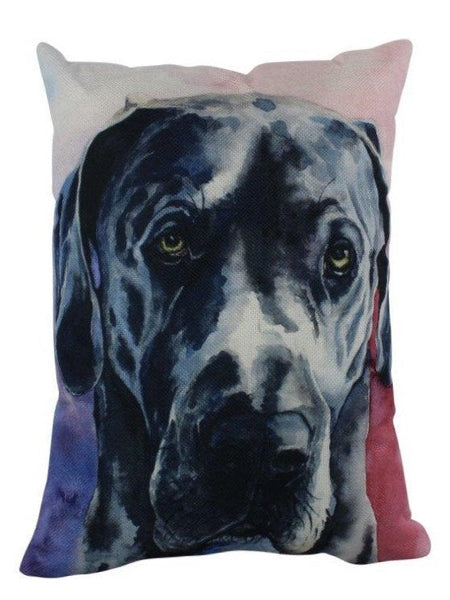 Great Dane Watercolor | Pillow Cover | Dogs | Home Decor | Custom Dog Pillow | Dog Mom | Great Dane