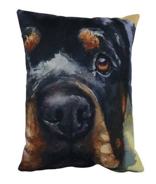Rottweiler Watercolor | Pillow Cover | Dogs | Home Decor | Custom Dog Pillow | Dog Mom | Rottweiler