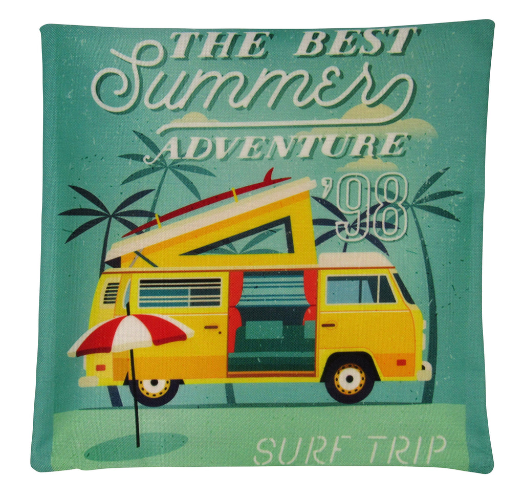 Happy Camper | Yelllow | Pillow Cover | Camper Decorations | Throw Pillow | Vintage Camper | Camper Gifts | Camper Decor | Gift Ideas