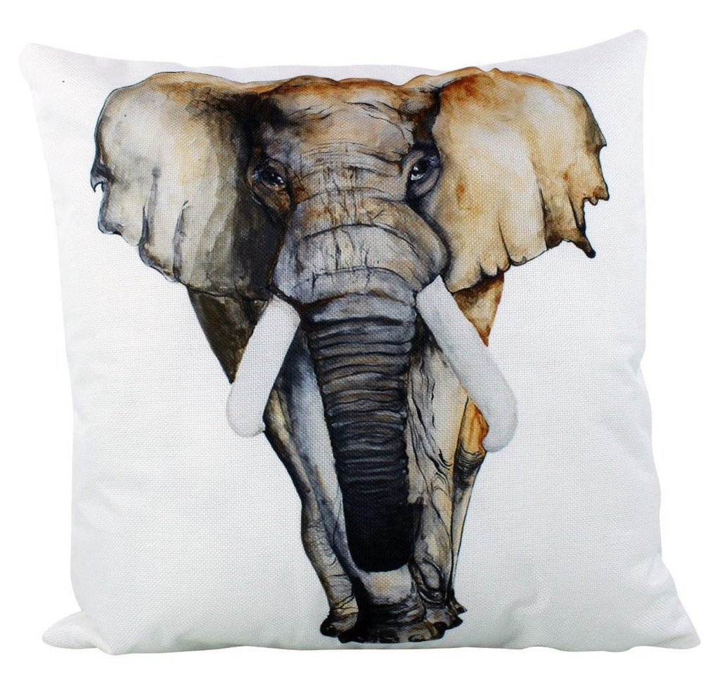 Elephant | Africa | Pillow | Vintage | Throw Pillow | Wilderness | Animal | Room Decor | Couch Pillows | Custom Pillows | Decorative Pillows
