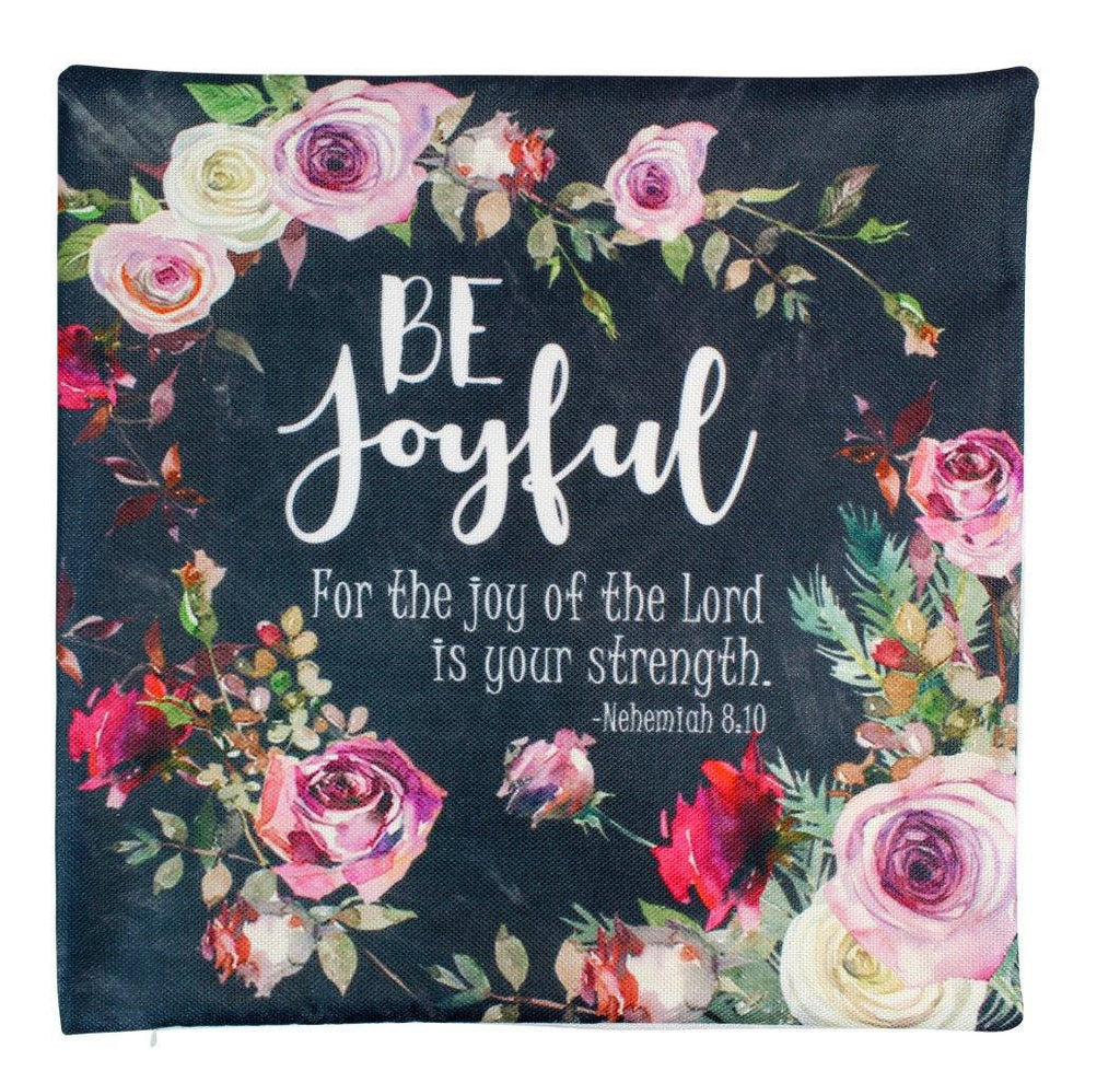 Be Joyful | Pillow Cover | Choose Joy | Stay Humble | Serve the Lord | 18 x 18 Pillow | Throw Pillow