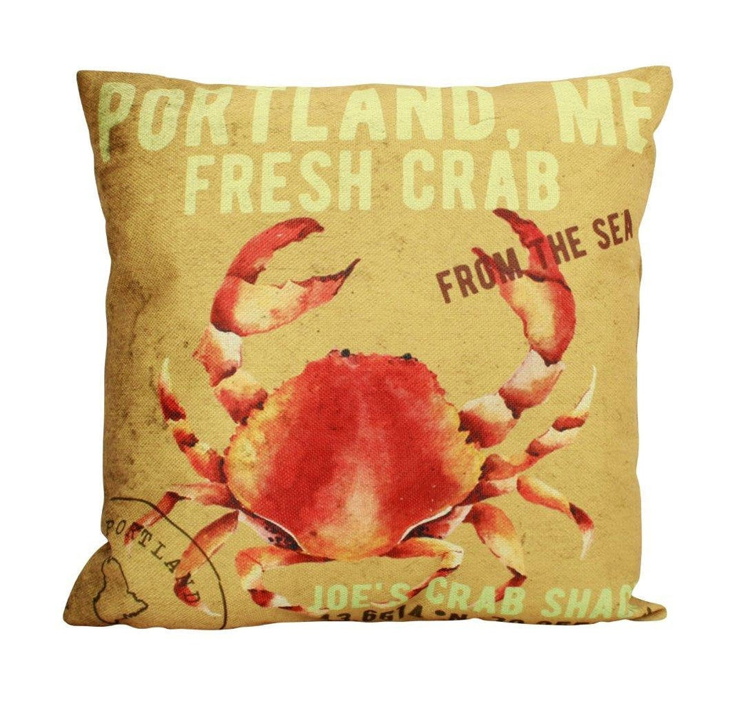 Crab  Pillow Cover|Throw Pillow | Home Decor | Modern Decor | Nautical Pillow | Ocean | Gift for her | Accent Pillow Covers | Watercolor