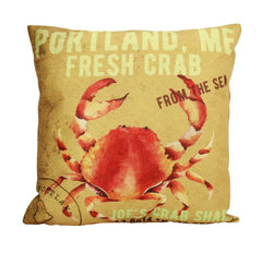 Crab  Pillow Cover | 18 x 18| Throw Pillow | Home Decor | Modern Coastal Decor | Nautical Pillow